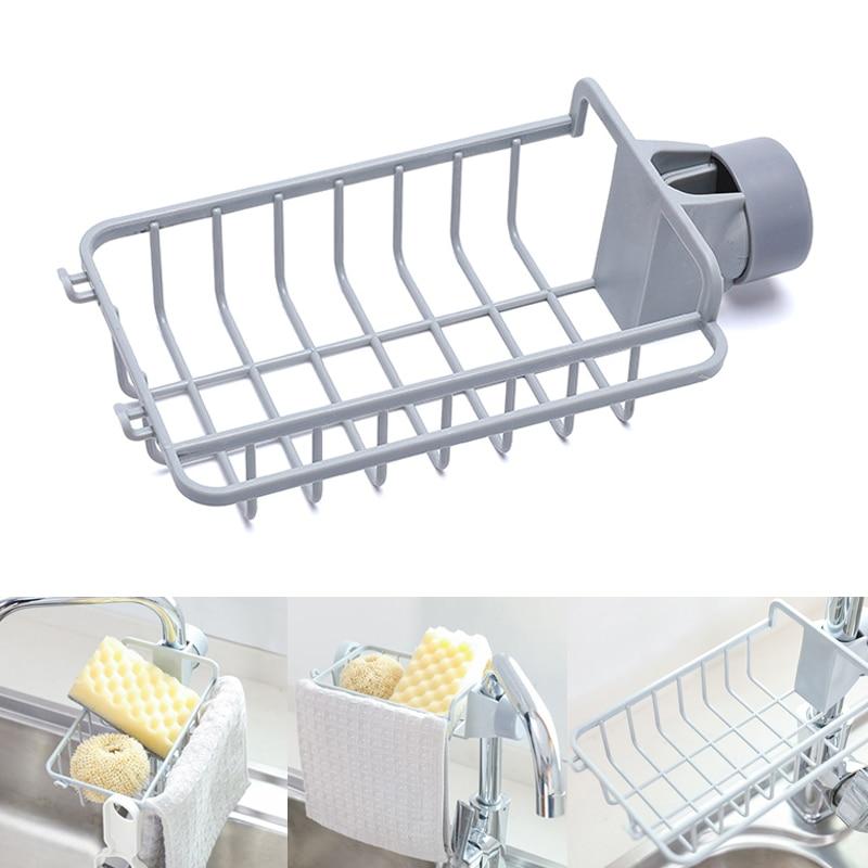 Drain Rack Holder Storage Organizer Drying Shelf For Kitchen Sink Faucet Sponge Soap Cloth TSH Shop