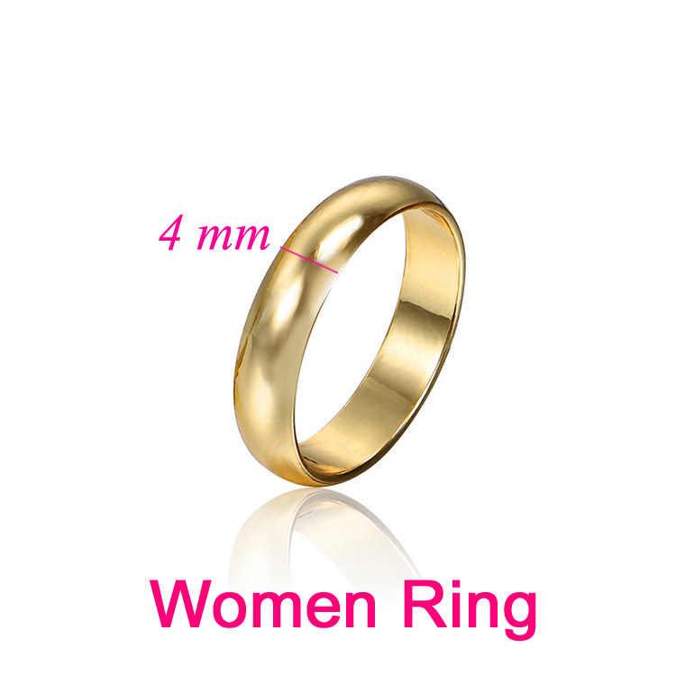 カップルリングゴールドの婚約指輪男性の女性のため提携 Casamento バゲマリアージュオム Alianca Anillo エイリアン結婚式の宝石類