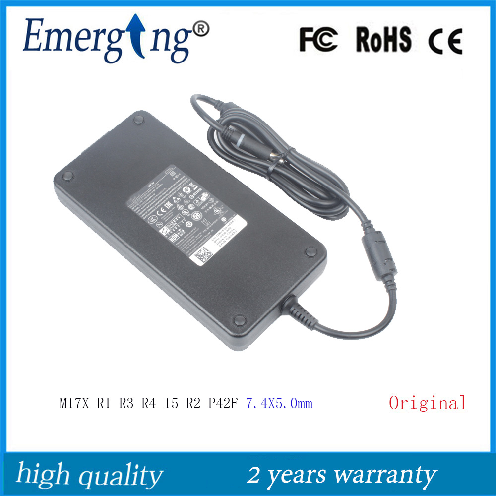 19.5V 12.3A 240W 7.4X5.0mm Original AC Laptop Adapter For Dell <font><b>Alienware</b></font> <font><b>M17X</b></font> <font><b>R1</b></font> R3 R4 15 R2 P42F image