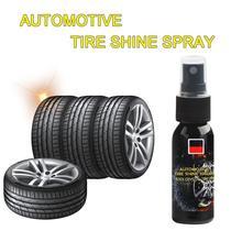 30ML Car Tire Shine Spray Car Wheel Cleaner Tire Refurbishing Car Waxing Tire Car Polish Maintenance Car Accessories TSLM1
