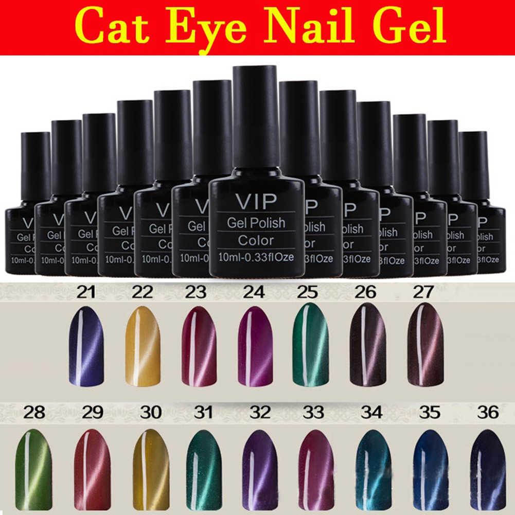 3D Kucing Mata Gel UV LED Gel Lacquer Varnish Cat Kuku Perlu Magnet Gel Nail Art