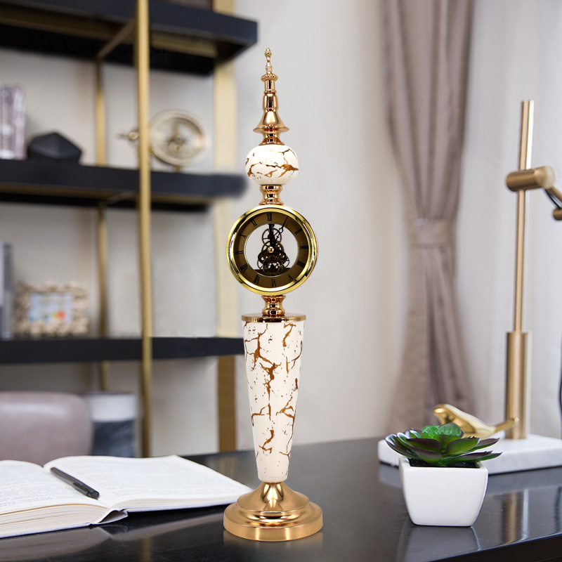 Simple Antique Desk Clock Digital Luxury Stand Electronic Old Table Watch Retro Office Shabby Chic Horloge Clocks BY50ZZ