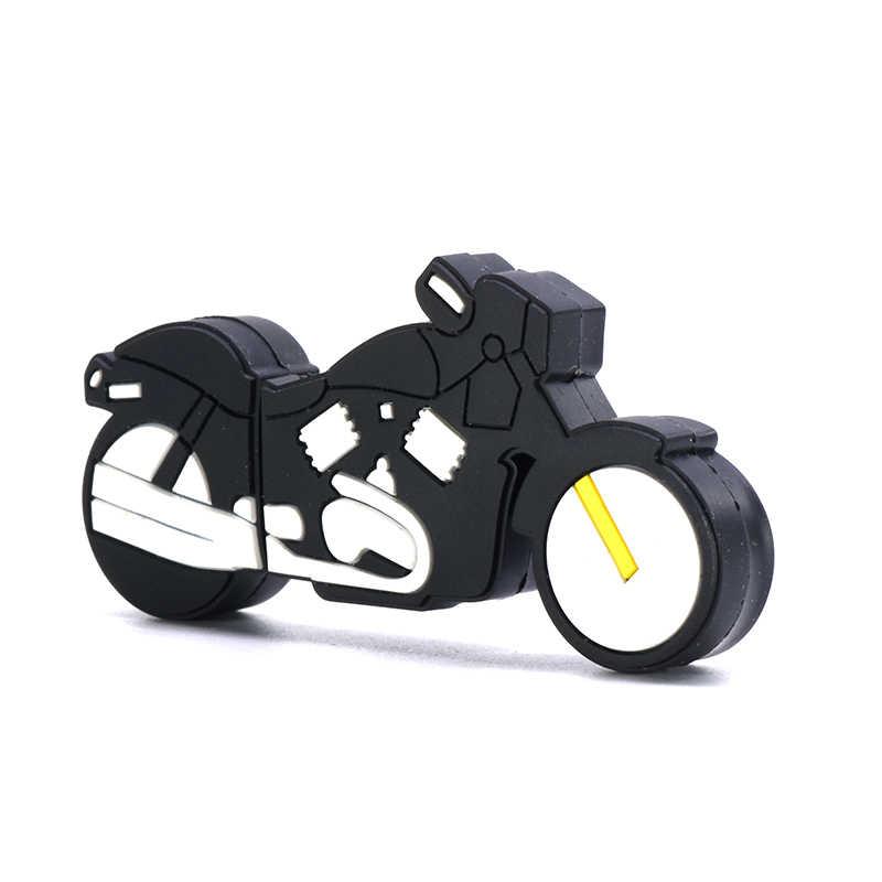 Fajny motocykl pen drive 32GB 64GB 16GB 8GB 4GB pendrive USB flash 256GB 128GB U sitck czarny pendrive na prezent