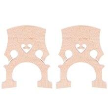 2 Piece 3/4 4/4 Regulated Double Bass Contrabass Bridge Maple Replacement Parts Cello Diy Musical Instrument Accessories