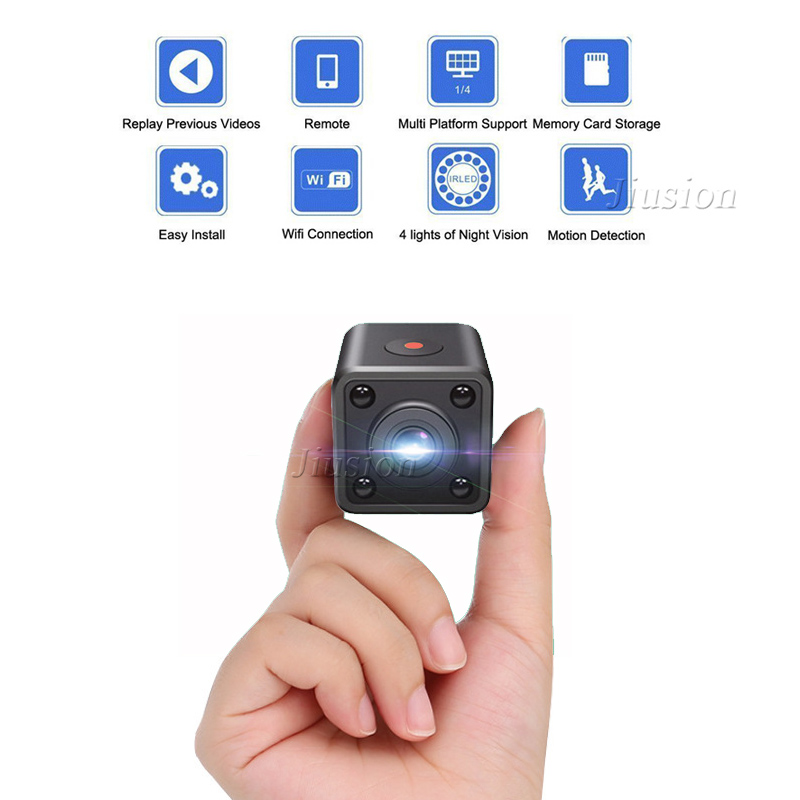 HD <font><b>WiFi</b></font> <font><b>Mini</b></font> Video <font><b>Camera</b></font> Wearable Micro DV Camcorder Digital Voice Recorder Night Vision Outdoor Sports Bike Micro Security Cam image