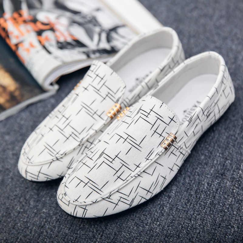 2019 Fashion Men Canvas Shoes Autumn