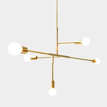 nordic modern style glass ball gold iron herringbone branch pendant light lamp living room restaurant bedroom hanging lighting