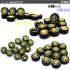 1:64 Model Car Tire Wheel Modified Diecasts Alloy  Rubber Toy Vehicles General Model Of Car Accessories