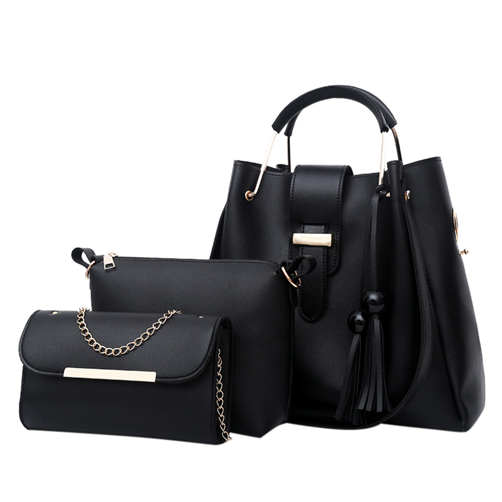 Bag Handbag Messenger-Bag Three-Piece-Bags Luxury-Set Leisure Women Ladies 3pcs Fashion