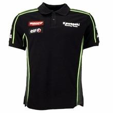 Зеленая футболка поло для езды на мотоцикле Kawasaki, футболка поло для гонок, футболка MTB DH MX Jersey