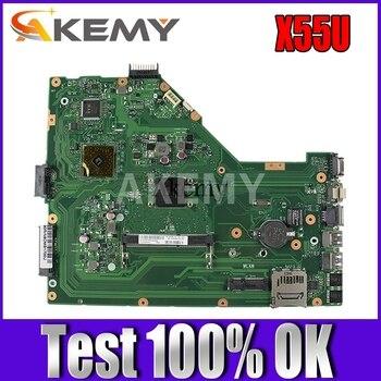 Akemy X55U Laptop motherboard For Asus X55U X55 Test original mainboard k541u for asus x541uv x541uvk a541u x541uj f541u x541u r541u laptop motherboard mainboard 100