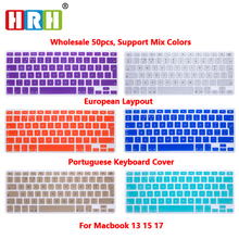 HRH Wholesale 50PCS Portuguese Silicone Keyboard Cover Skin Keyboard Protective Film for Mac Book Air 13.3 Keyboard Protector