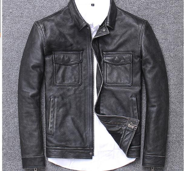 H4e10aae7d26c4a0d9607067e6988aa3eg YR!Free shipping.sales.Clearance.$99.99 cowhide jacket.mens genuine leather coat.fashion vintage casual leather outwear.classic