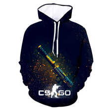 LISCN winter new fashion sweatshirt mens womens 3D printing cs go personality hooded shirt unisex long-sleeved cute casual pul