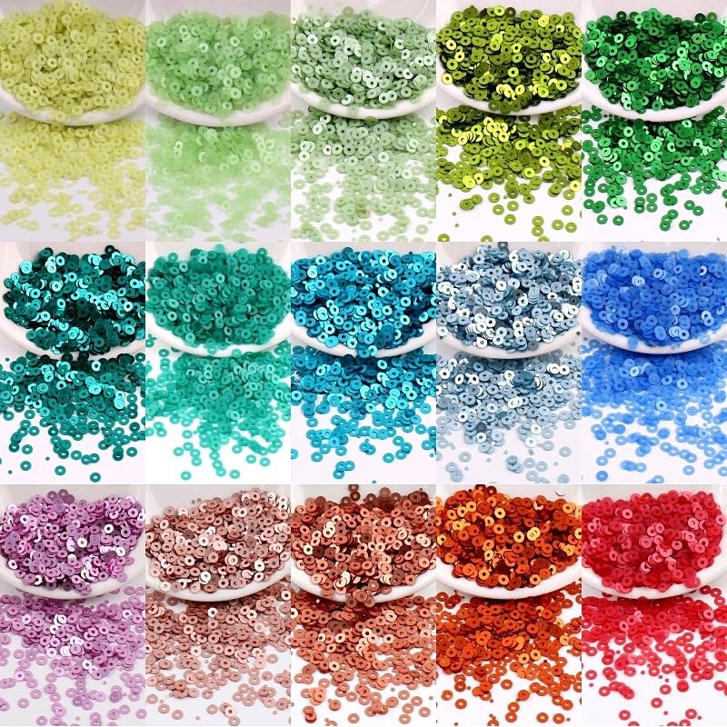 28 Colors 2mm 3mm 4mm Matte Sequins PVC Flat Round Dull Polish Sequin Paillettes Sewing Wedding Craft Women Garments Accessories