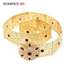 SUNSPICE MS Marokko Kaftan Blume Metall Gürtel Taille Kette für Frauen Kaukasus Ethnische Hochzeit gold silber farbe Körper Schmuck