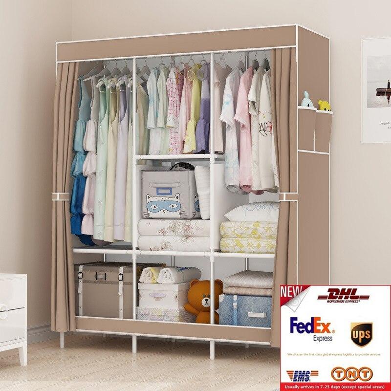 Экспресс доставка Бесплатная доставка DIY нетканый складной портативный шкаф для спальни мебель шкафчик для хранения в спальню