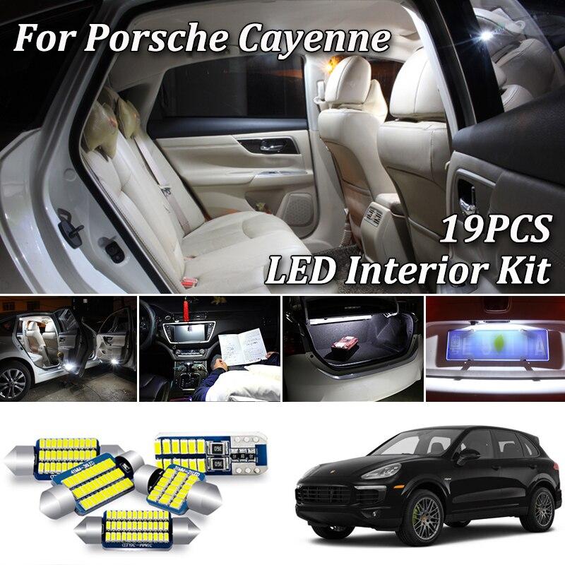 Светодиодный светильник Canbus для Porsche Cayenne 2 958, 9PA 955, 19 шт., SMD лампы белого цвета (2002-2018)