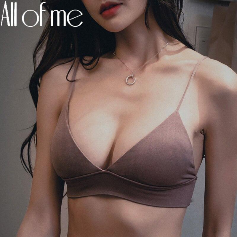 S/M/L seksi sutyen kadın sutyen iç çamaşırı kadın Push Up sütyen katı renk Wirefree Bralette kızlar için dikişsiz Intimates iç çamaşırı