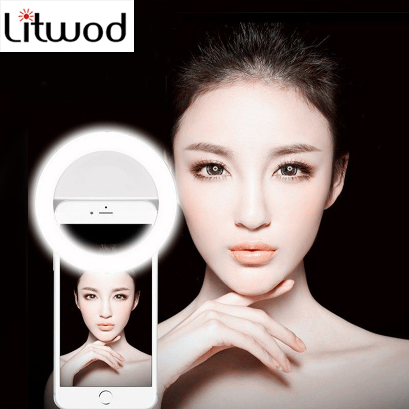 Z25 Ring LED Portable Light Case Phone Light Beauty Selfie Ring Flash Fill Light For IPhone 5 6 6s Plus 7 7 Plus Samsung S6 S7