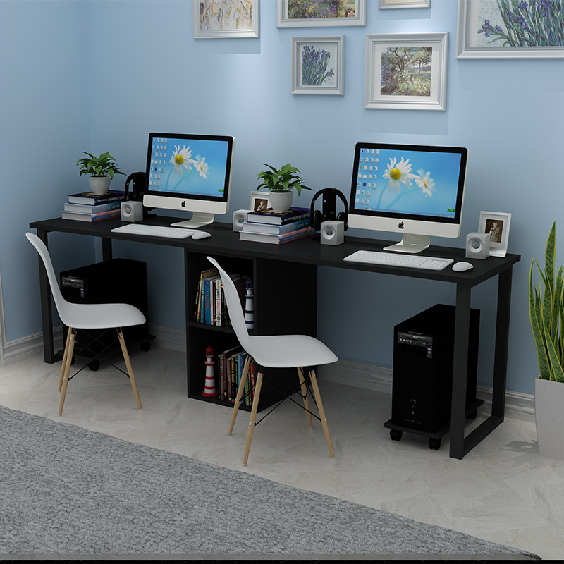 Manufacturers Direct Selling Two-person Computer Desk Combination Students Minimalist Modern Writing Desk Household Library Stud