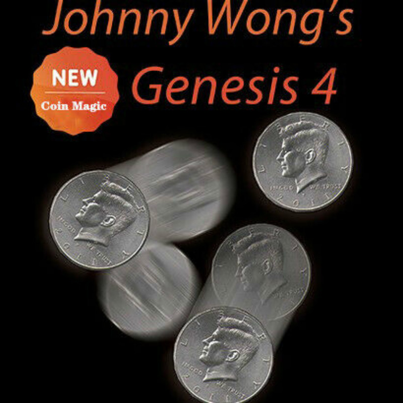 Johnny Wong's Genesis 4 (with DVD) By Johnny Wong Coin Magic Tricks Gimmick Fun Close Up Magic Props Amazing Coins Miracle