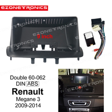 Adaptor Dvd-Frame-Plug Dash-Trim-Kits Audio-Fitting Facia-Panel 1-2din Megane3 9inch