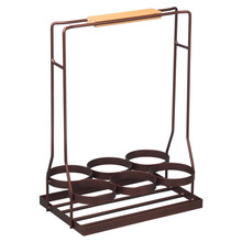 Wine Rack Bar Portable Shelving Wood Handle Display Table Storage Stand Unit KTV Bottle Kitchen Holder Decorative(China)