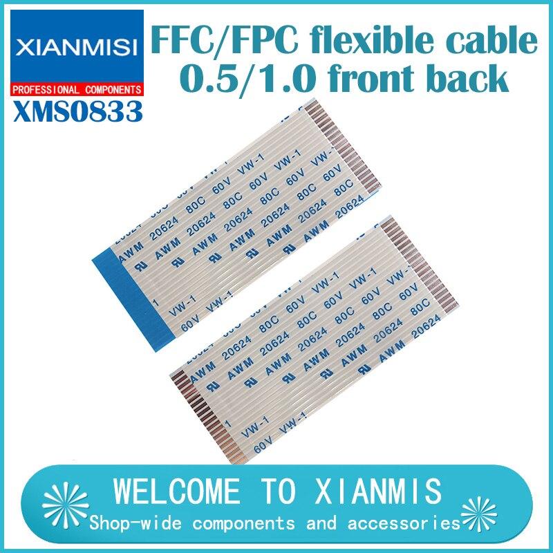 5PCS Flat flexible cable FFC FPC AWM 20624 80C 60V VW-1 FFC-0.5MM 1.0MM 4/5/6/8/7/9/10/11/12/13/14/15/16/18/20/24/26/30/40/50Pin