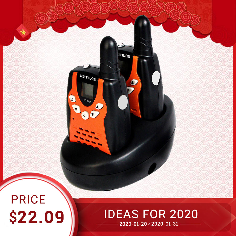 Rechargeable Walkie Talkie 2pcs For Kids Retevis RT602 Walky Talky For Children 0.5W PMR Talkie-walkie With Battery Xmas Gift