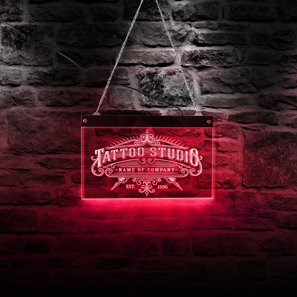 Personalized Led Neon Light Colorful Tattoo Studio Neon Sign Tattoo Salon Shop Business Advertisement With LED Lighting Changes