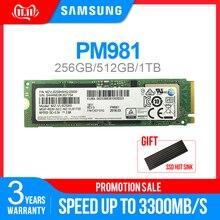 SAMSUNG SSD M.2 PM981 256 ГБ 512 1 ТБ PM961128GB твердотельного жесткого диска NVMe PCIe 3,0x4 NVMe 1,3 ноутбук внутренний disco duro TLC