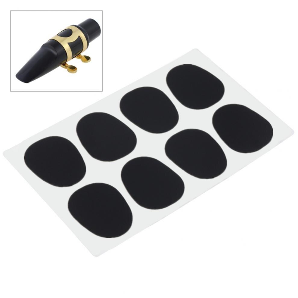 8pcs Standard 0.8mm Alto Tenor Saxophone Mouthpiece Cushions Pads Woodwind Musical Instruments Parts Accessories
