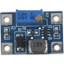 1 pcs blue metal + PCB high current 2A SX1308 DC-DC adjustable boost module 2.28*1.59*1.32cm(China)