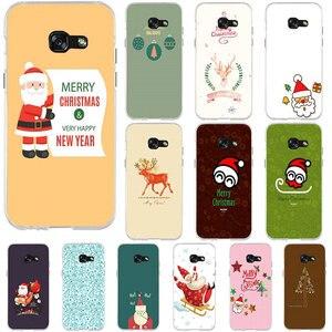 Счастливого Рождества снеговик силиконовые мягкие ТПУ чехлы для мобильных телефонов Samsung Galaxy J1 J3 J5 J7 A3 A5 A7 2015 2016 2017 Coque сумки