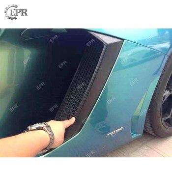 Carbon Side Vent Cover For LAMBORGHINI Aventador LP700 DMC Style Carbon Fiber Side Air Intake Duct Cover Extension Body kit Trim