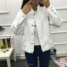 Jeans Coat Demin Jacket Harajuku Spring Streetwear Black Vintage White Women Female Casual