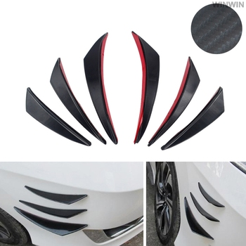 car Bumper Lip Diffuser Splitter Fins Body Spoiler Canards Valence FOR Mercedes Benz GLC63 GLA45 GLA G650 E63 E-Class A image