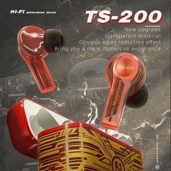 2021 Fashion Earphones Bluetooth Wireless Sport Charging Box Touch Transparent Light Noise Reduction Earpods Original Tws Music 2