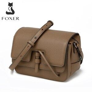 Image 1 - FOXER marka damska torba nowa moda Split skóra Crossbody torba torba dla kobiet kobiet torby na ramię