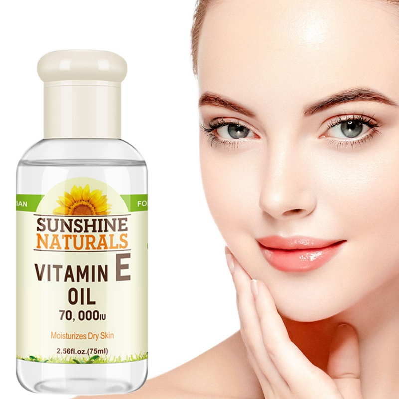 70000IU Vitamin E Oil Hyaluronic Acid  Face Serum Face Lift Essence Tender Anti-Aging Serum Wrinkle Removal