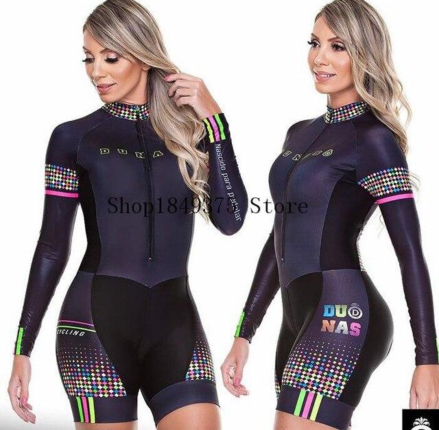 2020 pro equipe triathlon terno feminino camisa de ciclismo skinsuit macacão maillot ciclismo ropa ciclismo manga longa conjunto gel 2