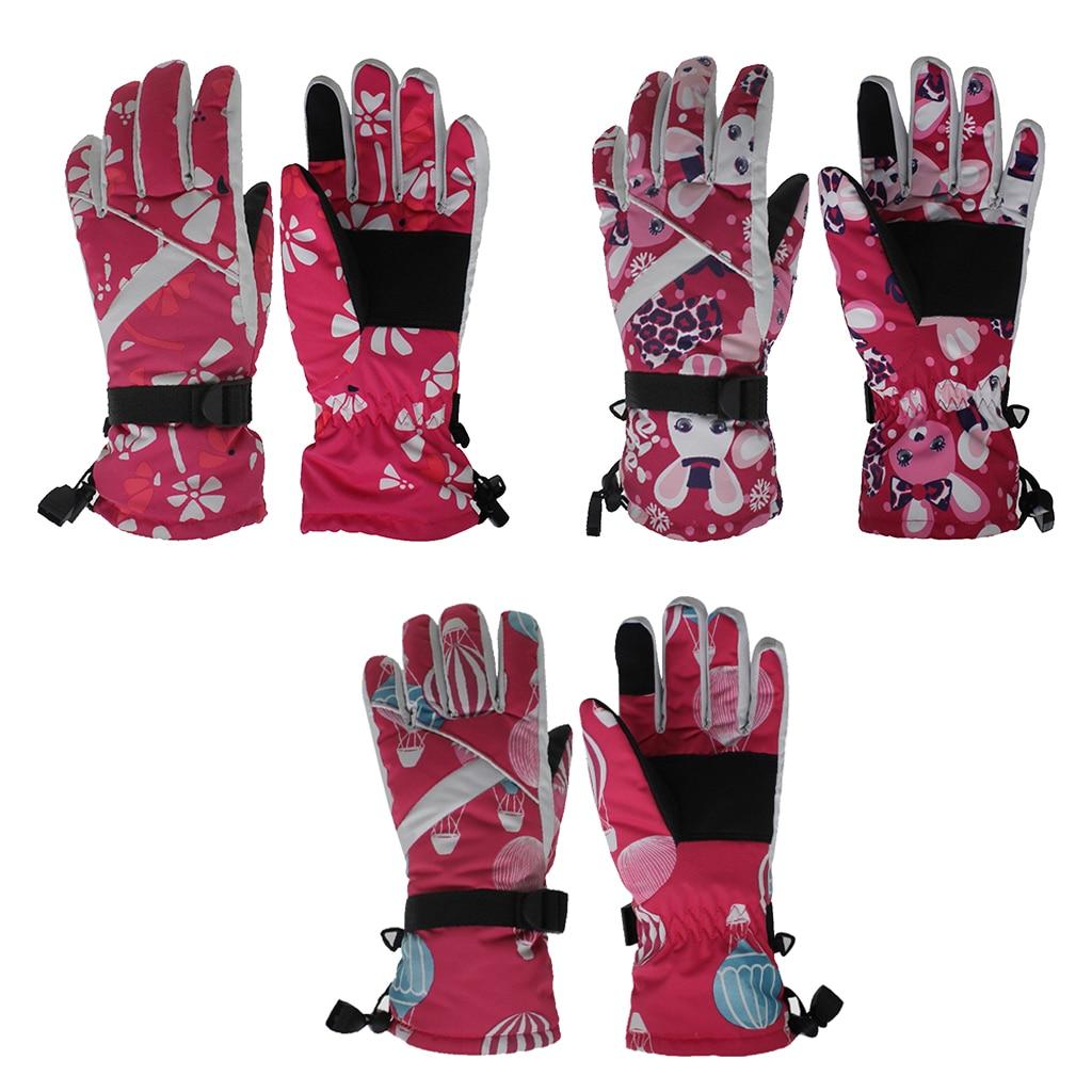 Windproof Women Gloves Ski Snowboard Warm Winter Skiing Cycling Outdoor Sport Snow Mitts Rabbit