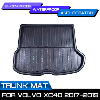 For Volvo XC40 2017 2018 2019 Car Rear Trunk Cargo Mat Auto Boot Liner Tray Floor Sheet Carpet Mud Protector Waterproof image