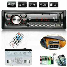 Stereo Car Radio Car Radio 12V FM Aux Input Receiver SD USB MP3 MMC WMA Car Audio Player стоимость
