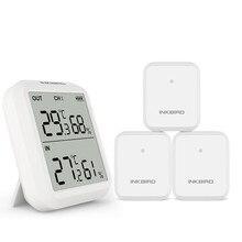 Inkbird ITH 20R اللاسلكية الرقمية داخلي مقياس حرارة خارجي جهاز مراقبة الرطوبة مع مقياس درجة الحرارة مقياس الرطوبة غرفة المرآب