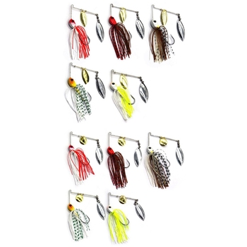 Spinner Bait 12g/17g Metal Hard Fishing Lure Spinnerbait Pike Swivel Fish Tackle Wobbler M5TC image