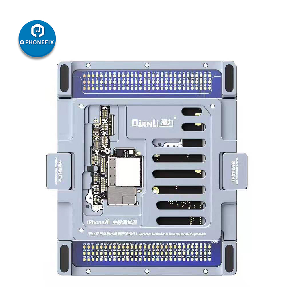 QianLi ISocket For IPhone Repair Double Side Logic Board Fixture For IPhone X Motherboard Fixture Upper/Lower Layering Platform