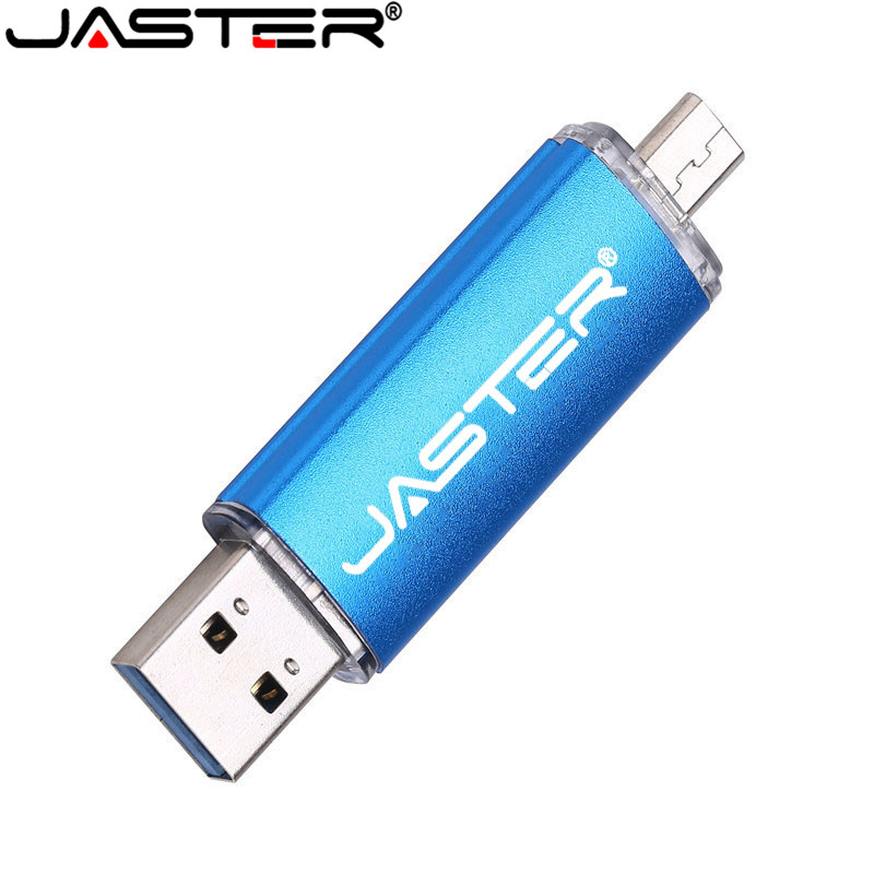 JASTER OTG USB 2.0 For Smart Phone USB  Flash Drive Micro Memory Stick U Disk 16GB 32GB 64GB 128GB For Android Phone