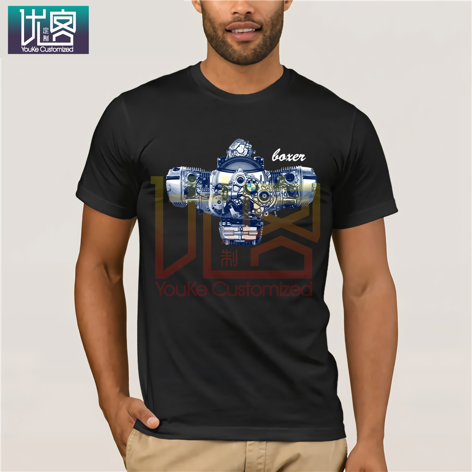 Boxer Engine R1200GS RT 1200 <font><b>GS</b></font> R Adventure R1200RT R1200R navy <font><b>tshirt</b></font> 9799 for women women brand <font><b>tshirt</b></font> image